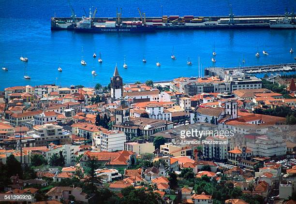 Coastal town of Funchal on Madeira Island