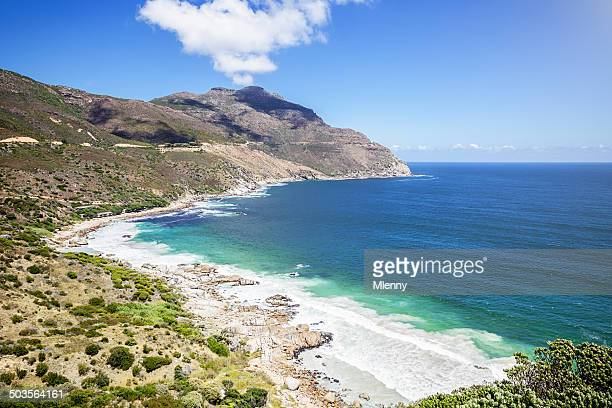 coastal view cape town south africa - mlenny stock pictures, royalty-free photos & images