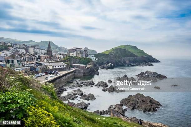 coastal view of  ilfracombe north devon - ilfracombe stock pictures, royalty-free photos & images