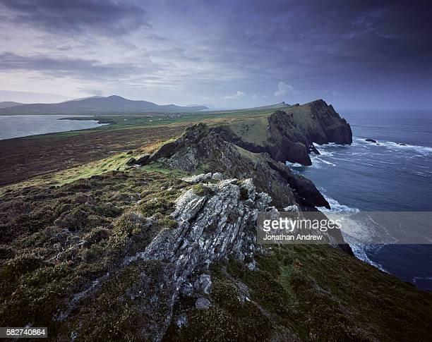 Coastal View of Rocky Cliffs