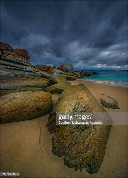 Coastal view on Flinders Island, Bass Strait, Tasmania, Australia.