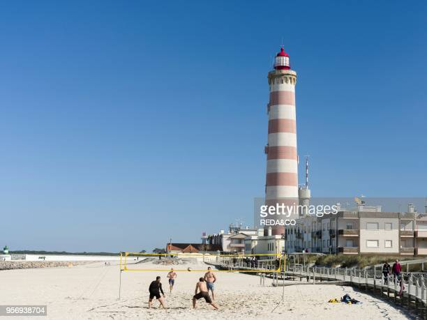Coastal village Barra. Suburb of Aveiro. Aveiro in Portugal on the coast of the Atlantic. Because of the many channels Aveiro is called the venice of...