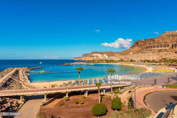 coastal village of amadores gran canaria spain - grand canary stock pictures, royalty-free photos & images