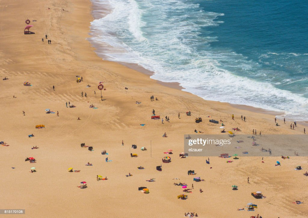 Picture taken from the top pf the viewpoint hill in the City Of Nazaré. famous for its big waves.