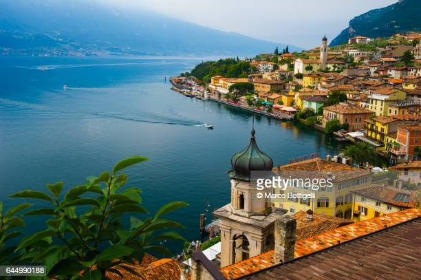 Coastal village on the lake Garda, Italy.