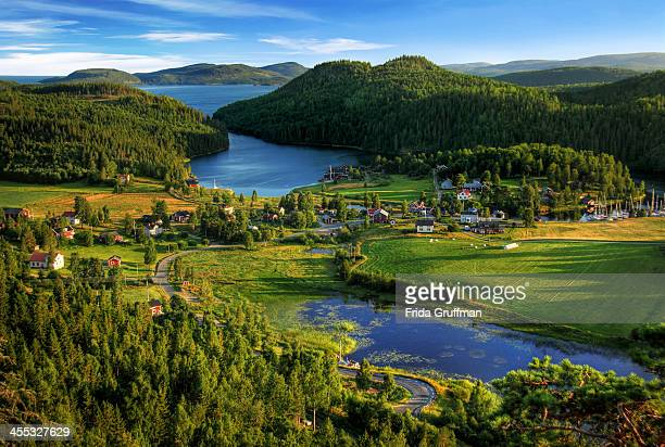 coastal village - sweden stock pictures, royalty-free photos & images