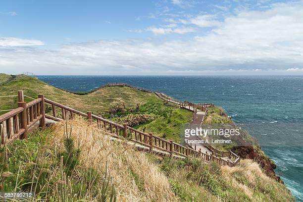 Coastal walkway on Jeju Island