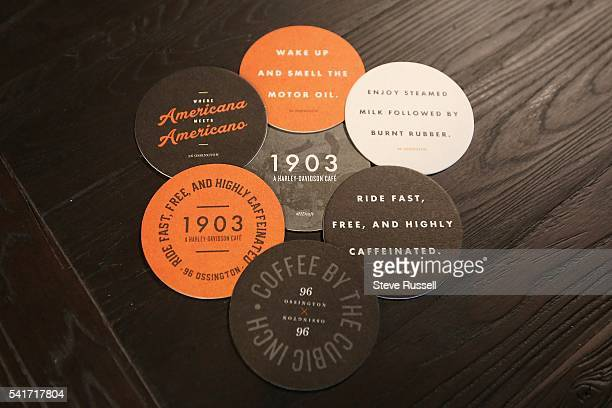 TORONTO ON JUNE 16 Coasters for the coffee The new HarleyDavidson showroom cafe on Ossington Avenue features a coffee bar new and historic...