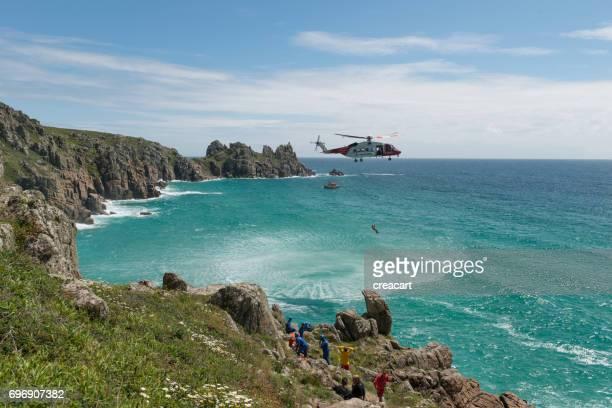 Küstenwache-Rettung, Porthcurno Cornwall