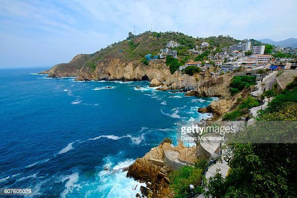 coastline acapulco mexico - acapulco stock pictures, royalty-free photos & images