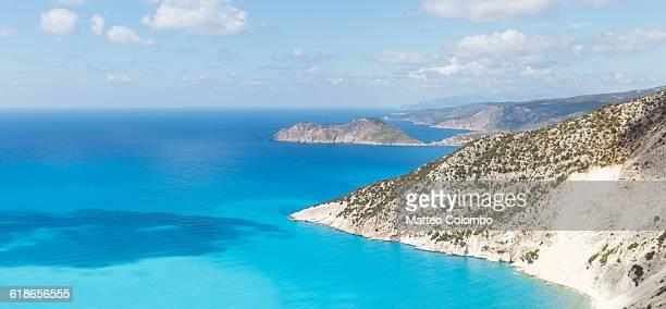 Coastline and blue mediterranean sea. Greece