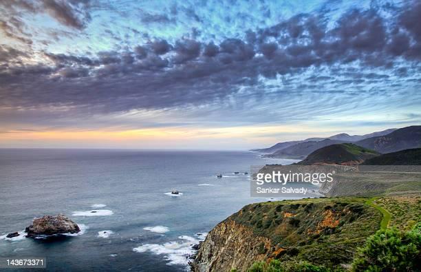 Coastline and highway 1in Big Sur