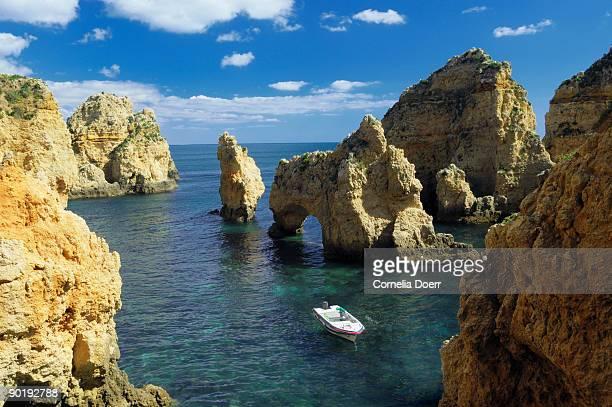Coastline and rock formations at Ponta da Piedade
