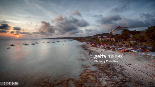 coastline and sunset of south suwlawesi - collin key stock-fotos und bilder