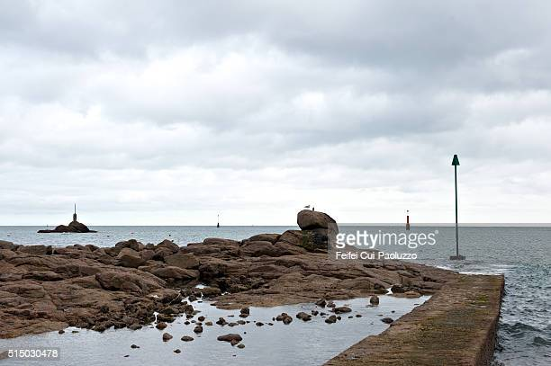 Coastline at Barfleur of Manche department in France
