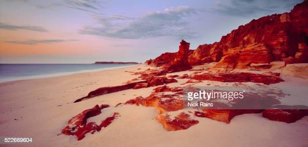 Coastline at dusk, Broome, Australia