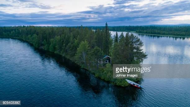 coastline at dusk - schweden stock-fotos und bilder