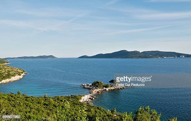 Coastline at Trsteno of Croatia