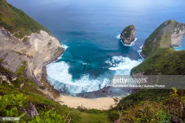 Coastline cliffs of Nusa Penida island, Bali, Indonesia