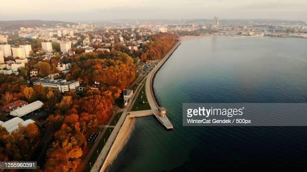 coastline in gdynia, pomeranian, poland - グディニャ ストックフォトと画像