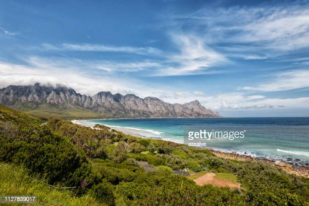 coastline in south africa on the garden route in south africa - south africa stock pictures, royalty-free photos & images