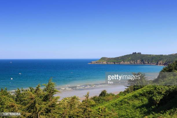coastline in the finistere/ brittany/ france - finistere stock photos and pictures