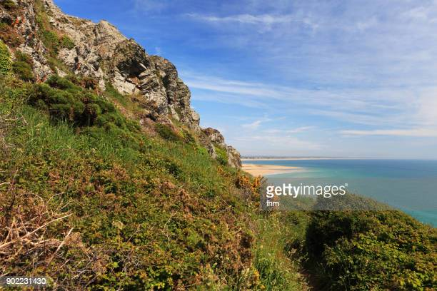 Coastline in the Normandy /Barneville-Carteret, France