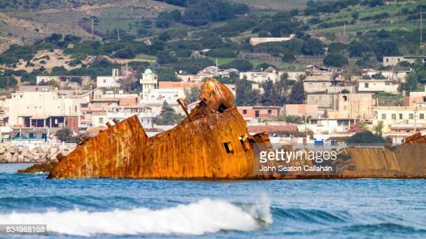 coastline near annaba - annaba algeria stockfoto's en -beelden