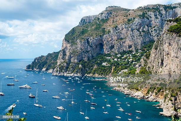 coastline of capri island, italy - capri stock pictures, royalty-free photos & images