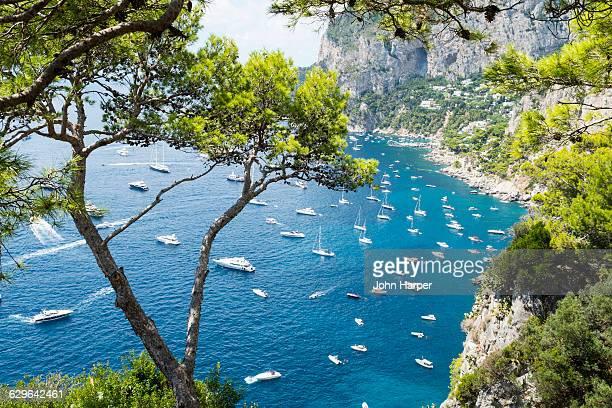 coastline of capri island, italy - capri stock pictures, royalty-free photos & images