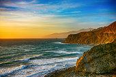 Coastline of Central California at Dusk