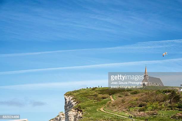 Coastline of Etretat, Cote d´Albatre, Haute-Normandie,  Normandy, France