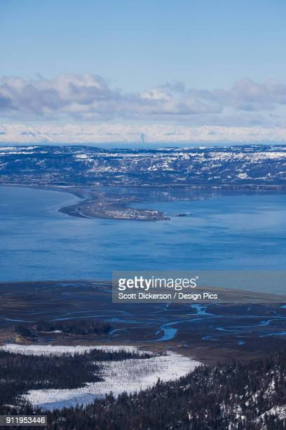 coastline of homer spit - kachemak bay stock pictures, royalty-free photos & images