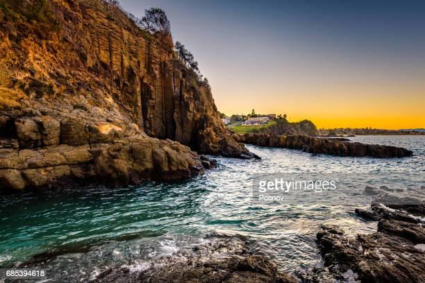 Coastline of Kiama, New South Wales.