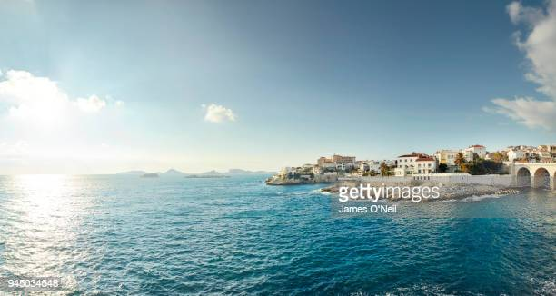 coastline of marseille, france - küste stock-fotos und bilder