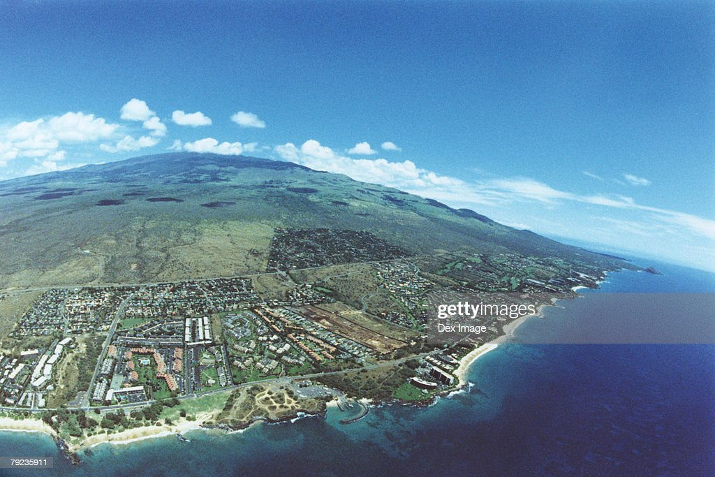 Coastline of Maui, Hawaii, Aerial view : Stock Photo
