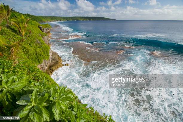 coastline of niue - american samoa stock pictures, royalty-free photos & images
