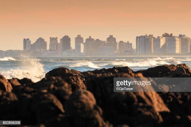Coastline of Punta del Este, Uruguay