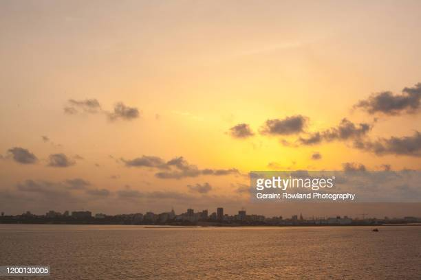 coastline of senegal - dakar senegal stockfoto's en -beelden