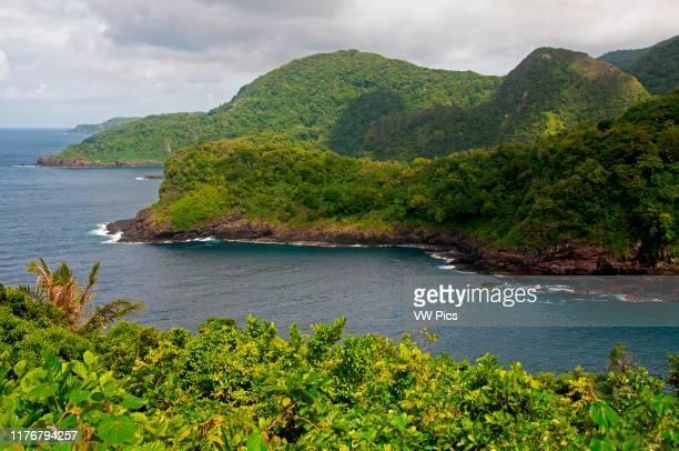 Coastline of Vaiava Natural National Monument in Vatia Bay. Tutuila Island. American Samoa.