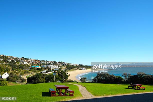 coastline on mossel bay, south africa - mossel bay stock pictures, royalty-free photos & images