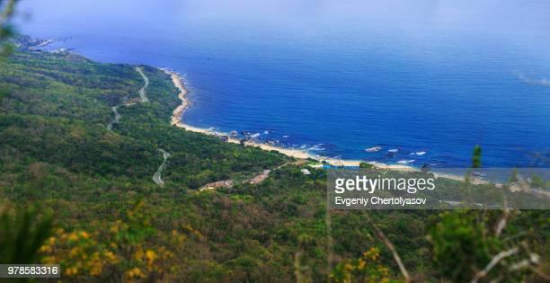 coastline on sunny day, sanya, hainan, china - sanya stock pictures, royalty-free photos & images