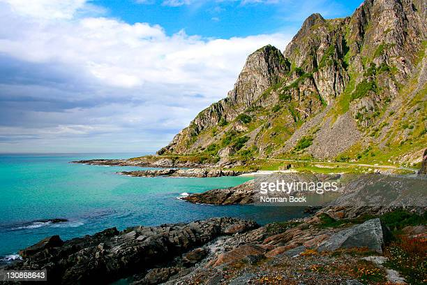 Coastline on the west coast of Andoya, northernmost island of Vesteralen, Norway, Scandinavia