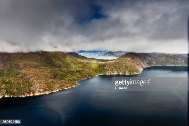 coastline south of greenland near narsarsuaq - climate stock pictures, royalty-free photos & images