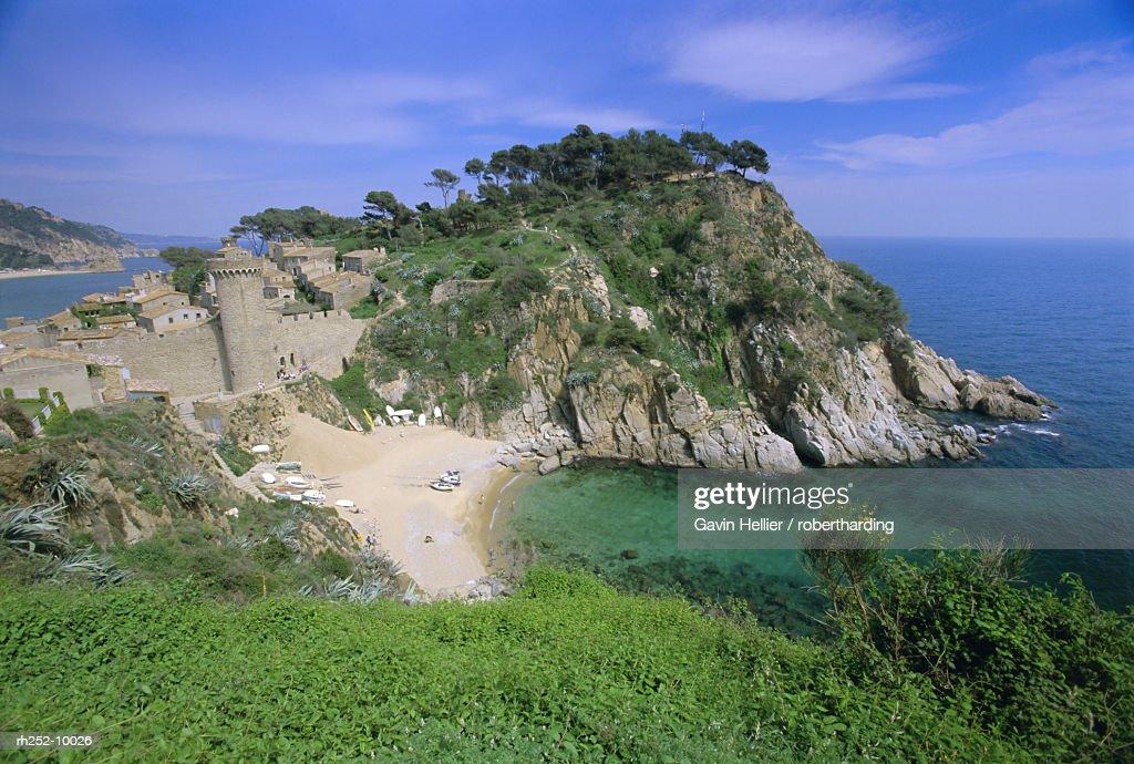Coastline, Tossa de Mar, Catalunya Catalonia Cataluna, Spain, Europe : Foto de stock