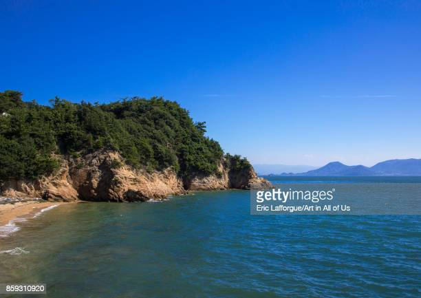 Coastline view Seto Inland Sea Naoshima Japan on August 24 2017 in Naoshima Japan