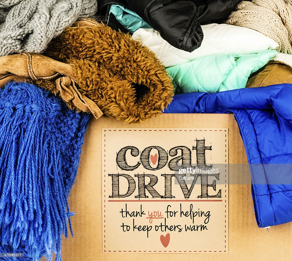 Coat Drive Promotion : Stock Photo