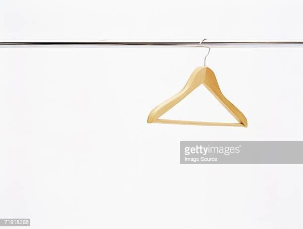 Coat hanger on a rail