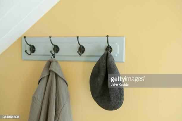 Coat hooks within a hallway