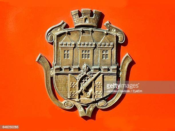 Coat Of Arms Against Orange Background